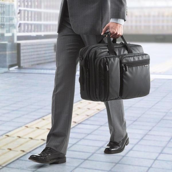 ビジネスバッグ メンズ 3way 簡易防水 耐水 大容量 リュック 軽量 ビジネスバック 通勤 出張 ビジネスリュック 鞄 カバン 3WAYバッグ PC対応(即納)|sanwadirect|12