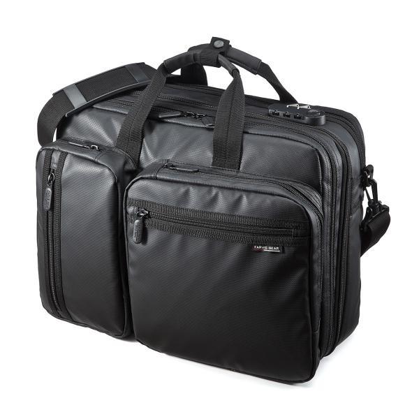ビジネスバッグ メンズ 3way 簡易防水 耐水 大容量 リュック 軽量 ビジネスバック 通勤 出張 ビジネスリュック 鞄 カバン 3WAYバッグ PC対応(即納)|sanwadirect|15