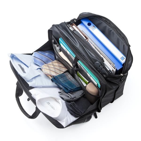 ビジネスバッグ メンズ 3way 簡易防水 耐水 大容量 リュック 軽量 ビジネスバック 通勤 出張 ビジネスリュック 鞄 カバン 3WAYバッグ PC対応(即納)|sanwadirect|09