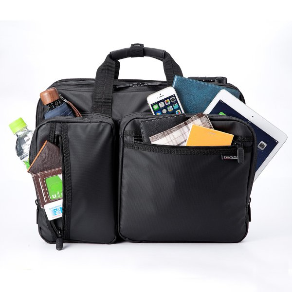 ビジネスバッグ メンズ 3way 簡易防水 耐水 大容量 リュック 軽量 ビジネスバック 通勤 出張 ビジネスリュック 鞄 カバン 3WAYバッグ PC対応(即納)|sanwadirect|10