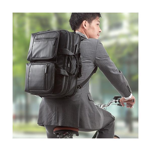 ビジネスバッグ 3WAY メンズ 大容量 防水 耐水 リュック ビジネスリュック バック(即納)|sanwadirect|12