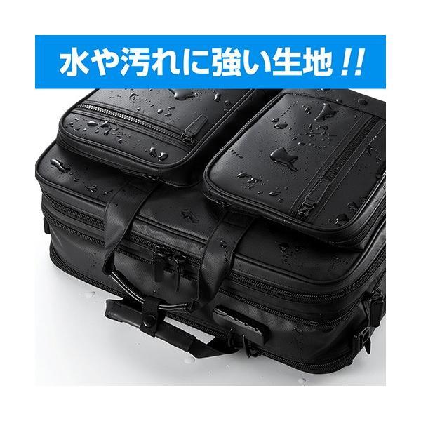 ビジネスバッグ 3WAY メンズ 大容量 防水 耐水 リュック ビジネスリュック バック(即納)|sanwadirect|05