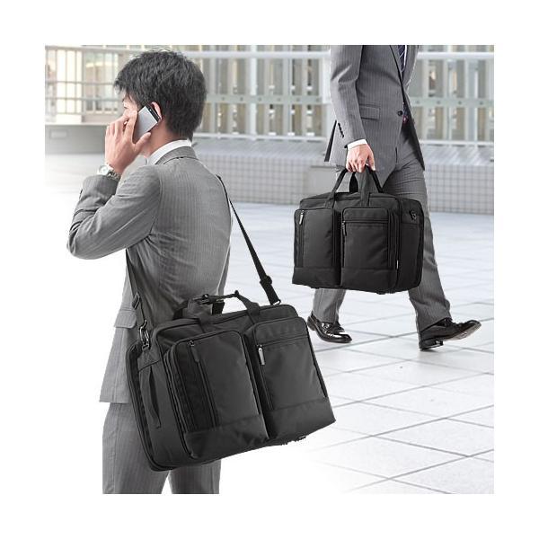 ガーメントバッグ ビジネスバッグ ガーメントケース 出張 スーツ入れ PC対応(即納)|sanwadirect|14
