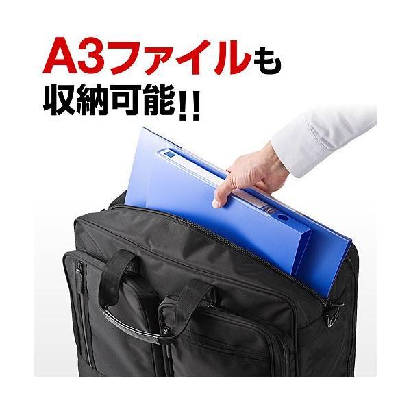 ガーメントバッグ ビジネスバッグ ガーメントケース 出張 スーツ入れ PC対応(即納)|sanwadirect|04