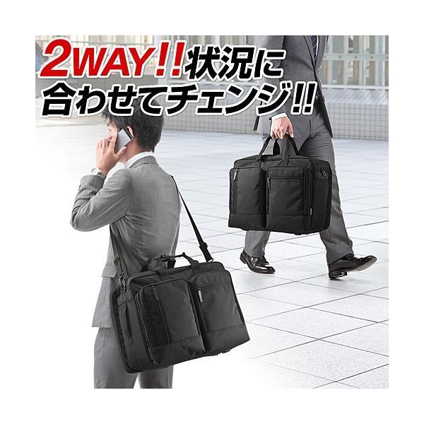 ガーメントバッグ ビジネスバッグ ガーメントケース 出張 スーツ入れ PC対応(即納)|sanwadirect|06
