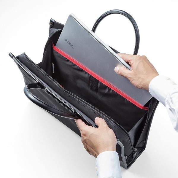 ビジネスバッグ 2WAY パソコンバッグ 防水 撥水 メンズ ブリーフケース バック パソコン PC対応(即納)|sanwadirect|15
