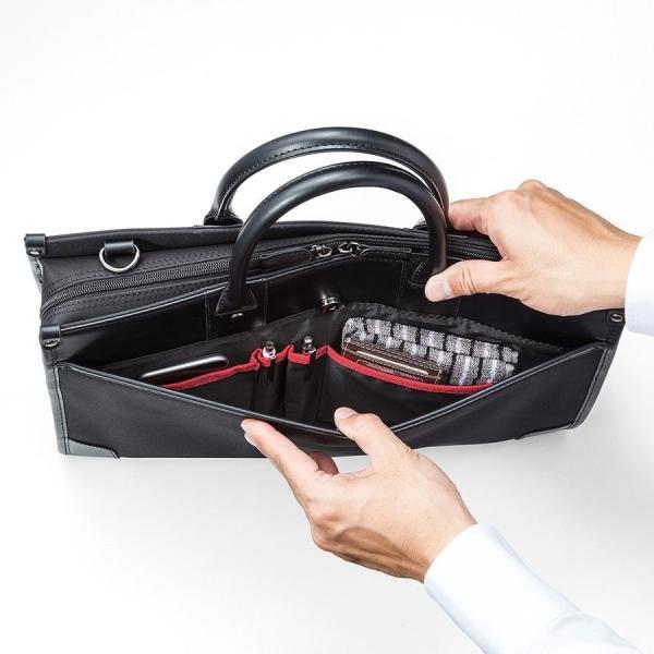 ビジネスバッグ 2WAY パソコンバッグ 防水 撥水 メンズ ブリーフケース バック パソコン PC対応(即納)|sanwadirect|16