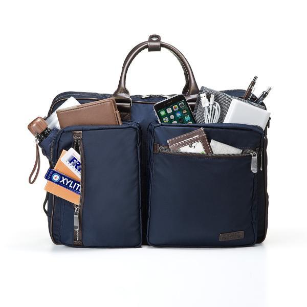 ビジネスバッグ 3WAY メンズ リュック 軽量 スリム 通勤 ビジネスバック(即納)|sanwadirect|13