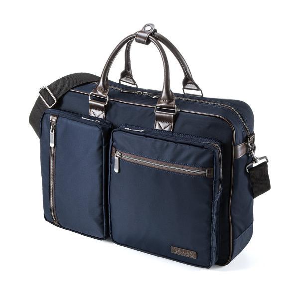 ビジネスバッグ 3WAY メンズ リュック 軽量 スリム 通勤 ビジネスバック(即納)|sanwadirect|14