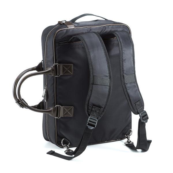 ビジネスバッグ 3WAY メンズ リュック 軽量 スリム 通勤 ビジネスバック(即納)|sanwadirect|18