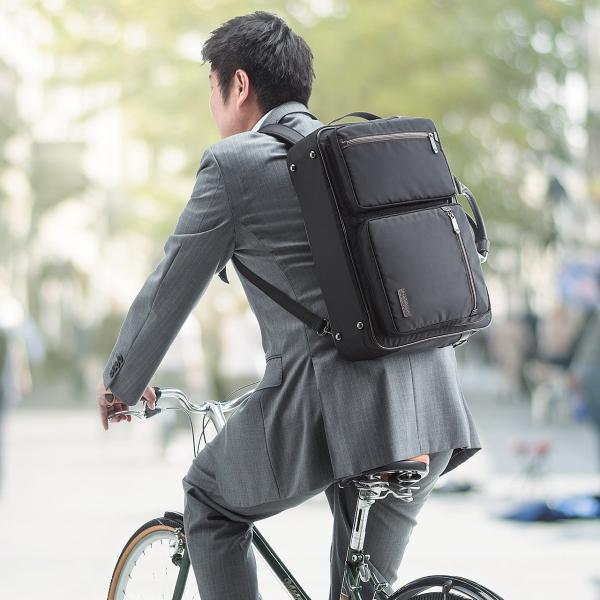 ビジネスバッグ 3WAY メンズ リュック 軽量 スリム 通勤 ビジネスバック(即納)|sanwadirect|19