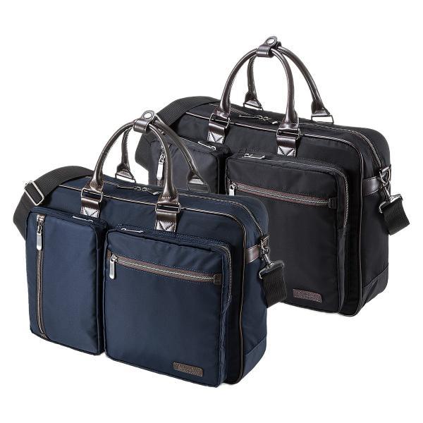 ビジネスバッグ 3WAY メンズ リュック 軽量 スリム 通勤 ビジネスバック(即納)|sanwadirect|20