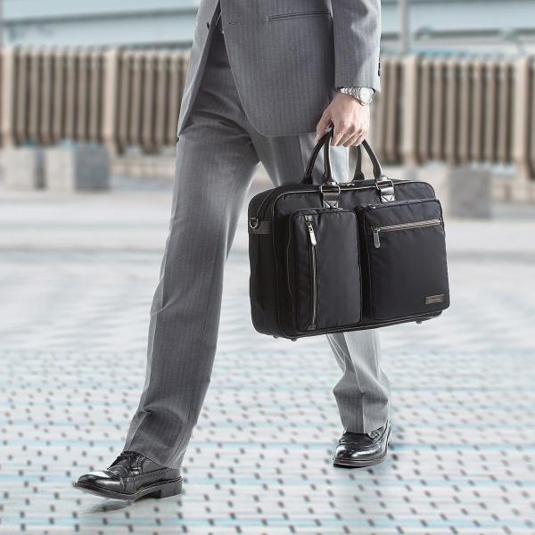 ビジネスバッグ 3WAY メンズ リュック 軽量 スリム 通勤 ビジネスバック(即納)|sanwadirect|07