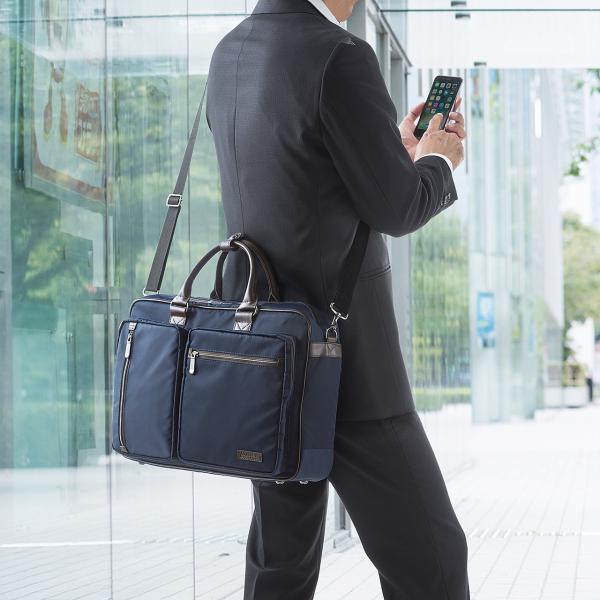 ビジネスバッグ 3WAY メンズ リュック 軽量 スリム 通勤 ビジネスバック(即納)|sanwadirect|10