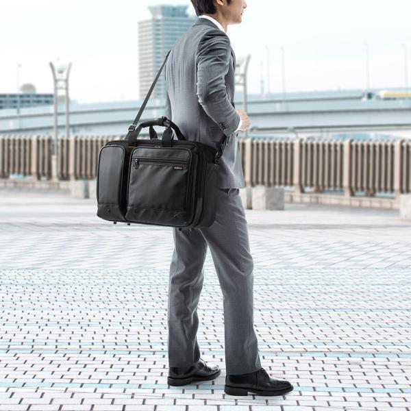 ビジネスバッグ 3way メンズ 大容量 リュック 3WAY バッグ 防水 撥水 ビジネスリュック 軽量 アルファ バック(即納)|sanwadirect|12