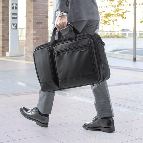 ビジネスバッグ 3way メンズ 大容量 リュック 3WAY バッグ 防水 撥水 ビジネスリュック 軽量 アルファ バック(即納)|sanwadirect|13