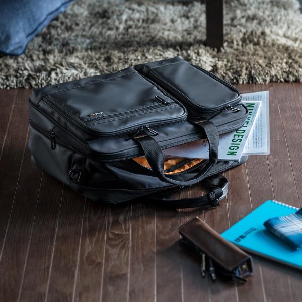 ビジネスバッグ 3way メンズ 大容量 リュック 3WAY バッグ 防水 撥水 ビジネスリュック 軽量 アルファ バック(即納)|sanwadirect|14