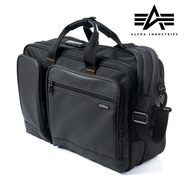 ビジネスバッグ 3way メンズ 大容量 リュック 3WAY バッグ 防水 撥水 ビジネスリュック 軽量 アルファ バック(即納)|sanwadirect|20