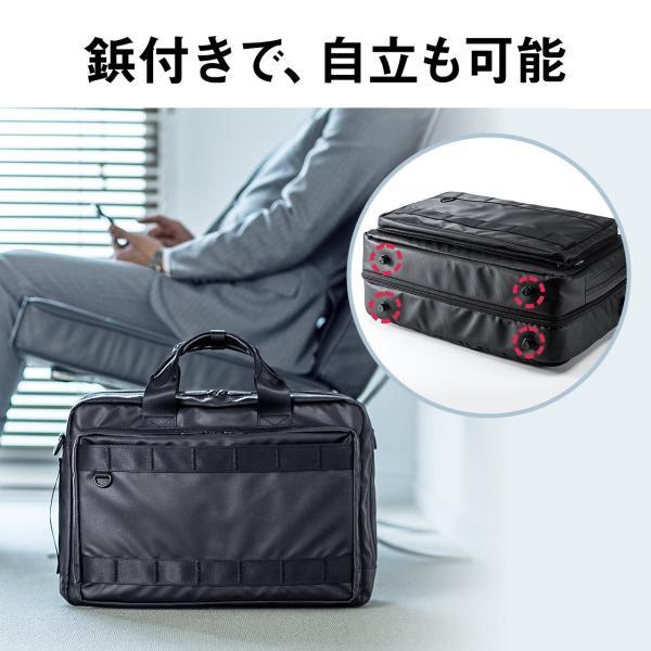 3WAY ビジネスバッグ パソコン メンズ 大容量 リュック 簡易防水 耐水 バック PC対応(即納) sanwadirect 11