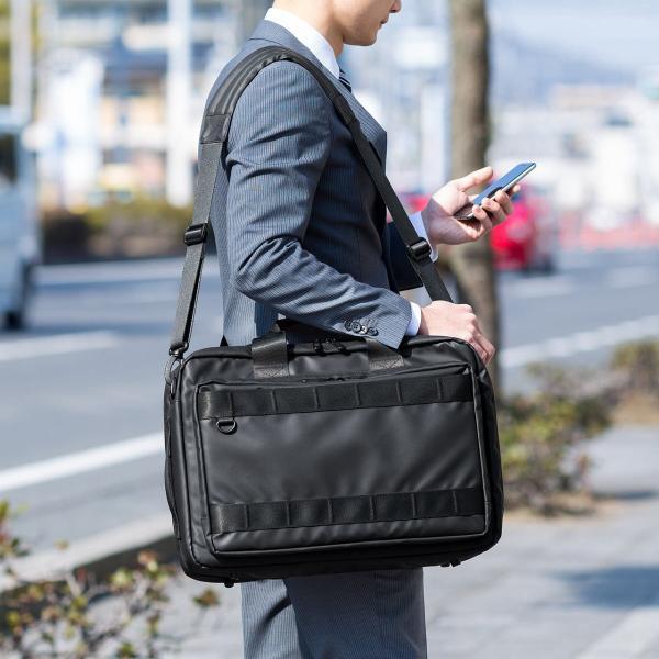 3WAY ビジネスバッグ パソコン メンズ 大容量 リュック 簡易防水 耐水 バック PC対応(即納) sanwadirect 13