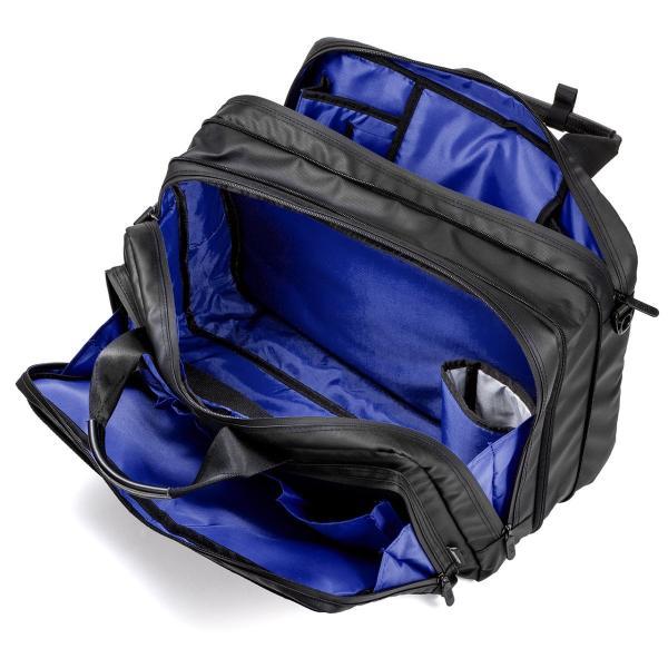 3WAY ビジネスバッグ パソコン メンズ 大容量 リュック 簡易防水 耐水 バック PC対応(即納) sanwadirect 16