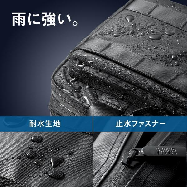 3WAY ビジネスバッグ パソコン メンズ 大容量 リュック 簡易防水 耐水 バック PC対応(即納) sanwadirect 08