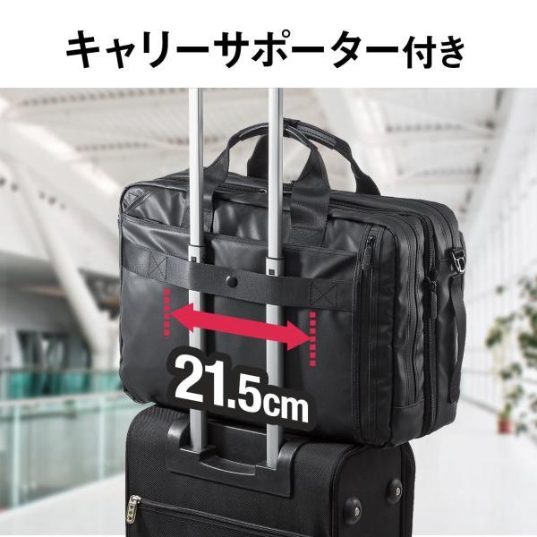3WAY ビジネスバッグ パソコン メンズ 大容量 リュック 簡易防水 耐水 バック PC対応(即納) sanwadirect 10