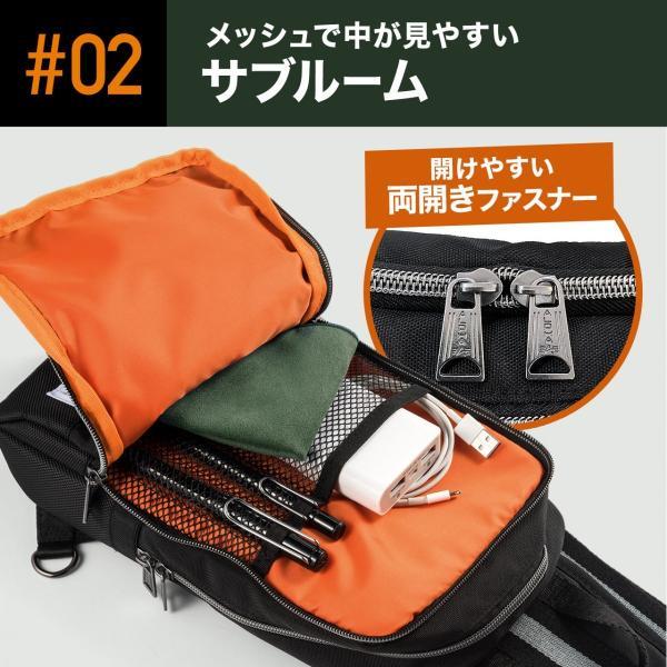 ボディバッグ メンズ ショルダー バッグ メッセンジャーバッグ ALPHA アルファ ボディバック 旅行(即納) sanwadirect 06