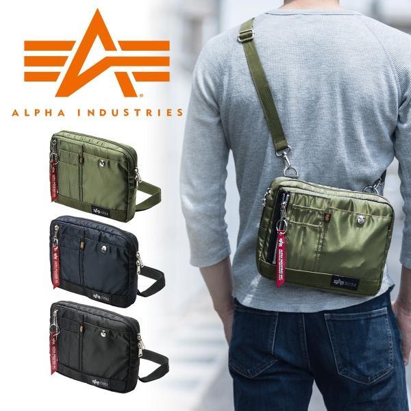 ショルダーバッグ メンズ サコッシュ 斜めがけ 肩掛け バッグ 2WAYバッグ 軽量 薄型 ALPHA アルファ(即納)|sanwadirect
