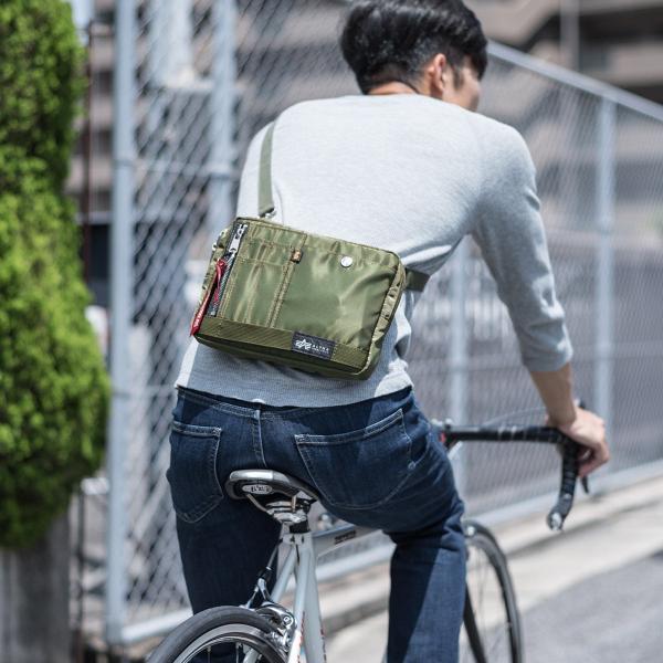 ショルダーバッグ サコッシュ メンズ 斜めがけ 肩掛け バッグ 2WAYバッグ 軽量 薄型 ALPHA(即納)|sanwadirect|12