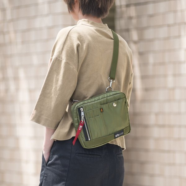 ショルダーバッグ サコッシュ メンズ 斜めがけ 肩掛け バッグ 2WAYバッグ 軽量 薄型 ALPHA(即納)|sanwadirect|15