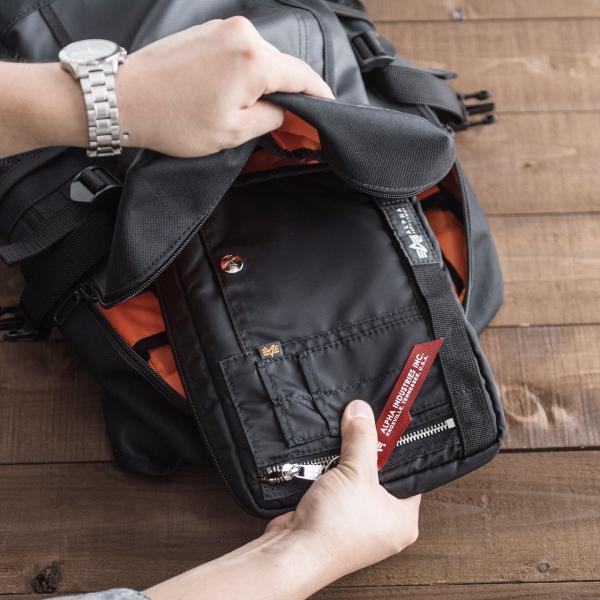 ショルダーバッグ サコッシュ メンズ 斜めがけ 肩掛け バッグ 2WAYバッグ 軽量 薄型 ALPHA(即納)|sanwadirect|16