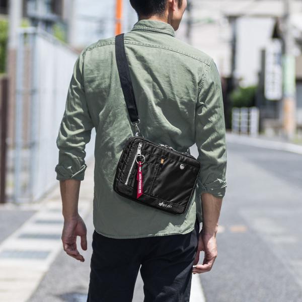 ショルダーバッグ サコッシュ メンズ 斜めがけ 肩掛け バッグ 2WAYバッグ 軽量 薄型 ALPHA(即納)|sanwadirect|19