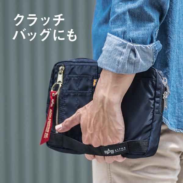 ショルダーバッグ サコッシュ メンズ 斜めがけ 肩掛け バッグ 2WAYバッグ 軽量 薄型 ALPHA(即納)|sanwadirect|08