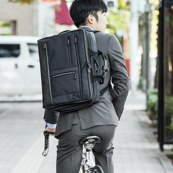 ビジネスバッグ メンズ 3WAY 大容量 撥水 簡易防水生地 出張 通勤 汚れに強い 高級感 ギフト プレゼント(即納)|sanwadirect|18