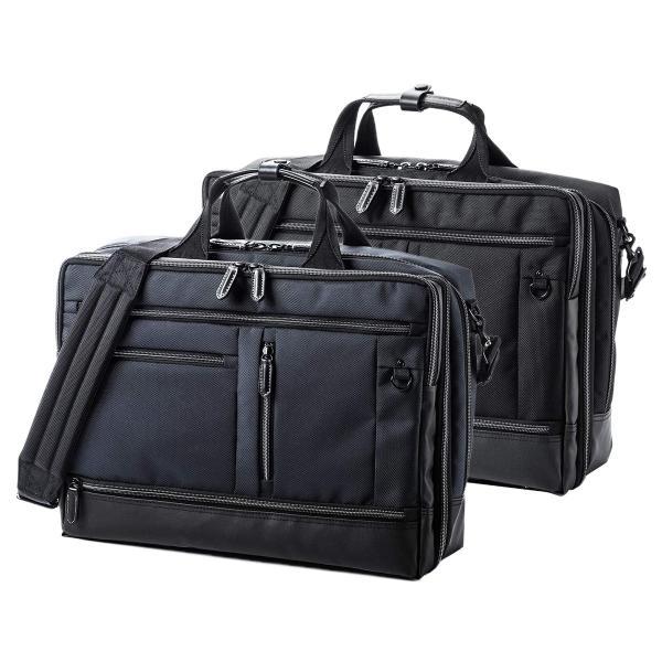 ビジネスバッグ メンズ 3WAY 大容量 撥水 簡易防水生地 出張 通勤 汚れに強い 高級感 ギフト プレゼント(即納)|sanwadirect|20