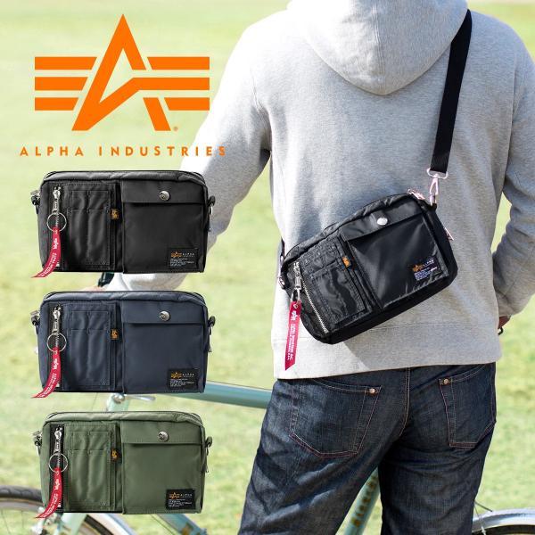 サコッシュ メンズ ショルダー バッグ 2wayバッグ 斜めがけ 肩掛け 軽量 薄型 ALPHA アルファ ショルダーバッグ(即納)|sanwadirect