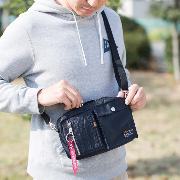 サコッシュ メンズ ショルダー バッグ 2wayバッグ 斜めがけ 肩掛け 軽量 薄型 ALPHA アルファ ショルダーバッグ(即納)|sanwadirect|14