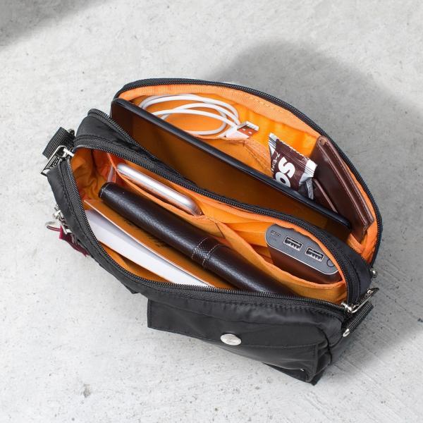 サコッシュ メンズ ショルダー バッグ 2wayバッグ 斜めがけ 肩掛け 軽量 薄型 ALPHA アルファ ショルダーバッグ(即納)|sanwadirect|16