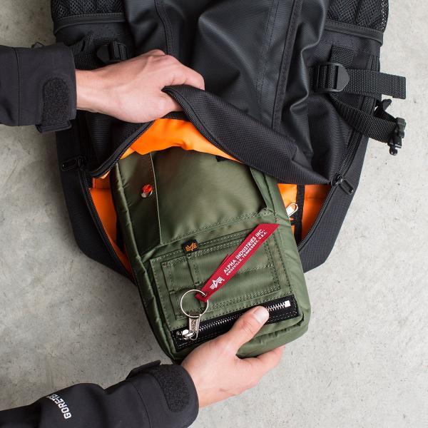 サコッシュ メンズ ショルダー バッグ 2wayバッグ 斜めがけ 肩掛け 軽量 薄型 ALPHA アルファ ショルダーバッグ(即納)|sanwadirect|17