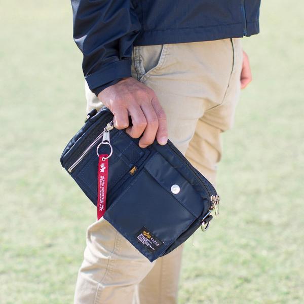 サコッシュ メンズ ショルダー バッグ 2wayバッグ 斜めがけ 肩掛け 軽量 薄型 ALPHA アルファ ショルダーバッグ(即納)|sanwadirect|18