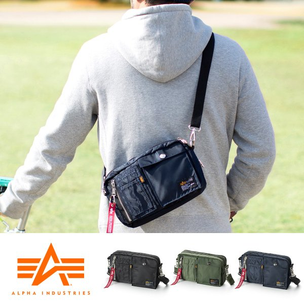 サコッシュ メンズ ショルダー バッグ 2wayバッグ 斜めがけ 肩掛け 軽量 薄型 ALPHA アルファ ショルダーバッグ(即納)|sanwadirect|21
