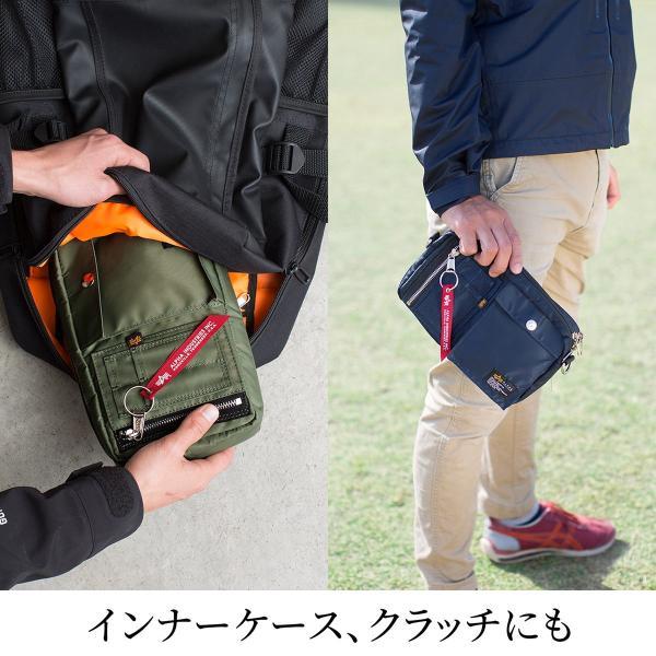 サコッシュ メンズ ショルダー バッグ 2wayバッグ 斜めがけ 肩掛け 軽量 薄型 ALPHA アルファ ショルダーバッグ(即納)|sanwadirect|10