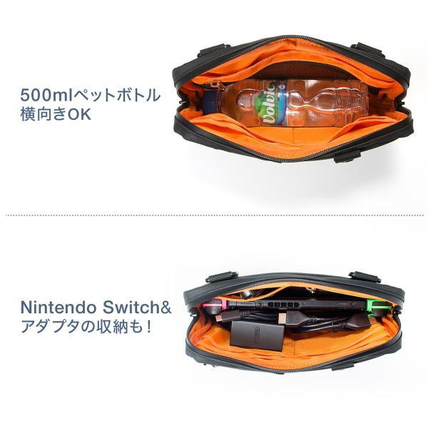 サコッシュ メンズ 2wayバッグ ショルダー バッグ 簡易防水 耐水 斜めがけ 肩掛け 軽量 薄型 ALPHA アルファ ショルダーバッグ(即納)|sanwadirect|11