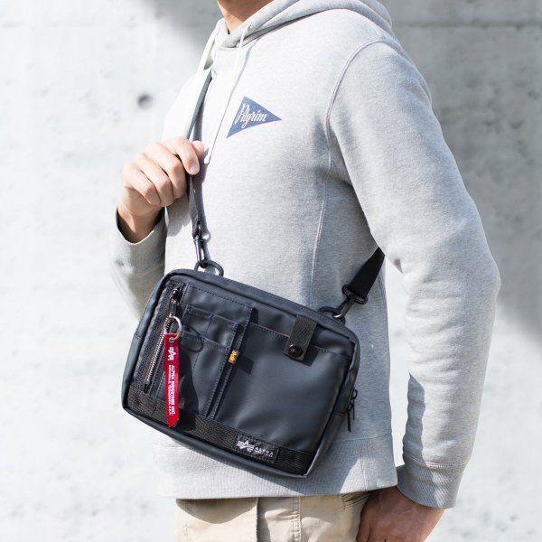 サコッシュ メンズ 2wayバッグ ショルダー バッグ 簡易防水 耐水 斜めがけ 肩掛け 軽量 薄型 ALPHA アルファ ショルダーバッグ(即納)|sanwadirect|15
