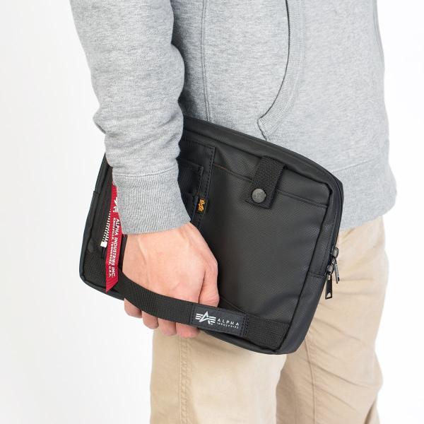 サコッシュ メンズ 2wayバッグ ショルダー バッグ 簡易防水 耐水 斜めがけ 肩掛け 軽量 薄型 ALPHA アルファ ショルダーバッグ(即納)|sanwadirect|18
