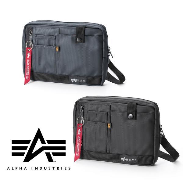 サコッシュ メンズ 2wayバッグ ショルダー バッグ 簡易防水 耐水 斜めがけ 肩掛け 軽量 薄型 ALPHA アルファ ショルダーバッグ(即納)|sanwadirect|20