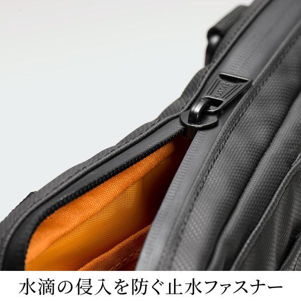 サコッシュ メンズ 2wayバッグ ショルダー バッグ 簡易防水 耐水 斜めがけ 肩掛け 軽量 薄型 ALPHA アルファ ショルダーバッグ(即納)|sanwadirect|05