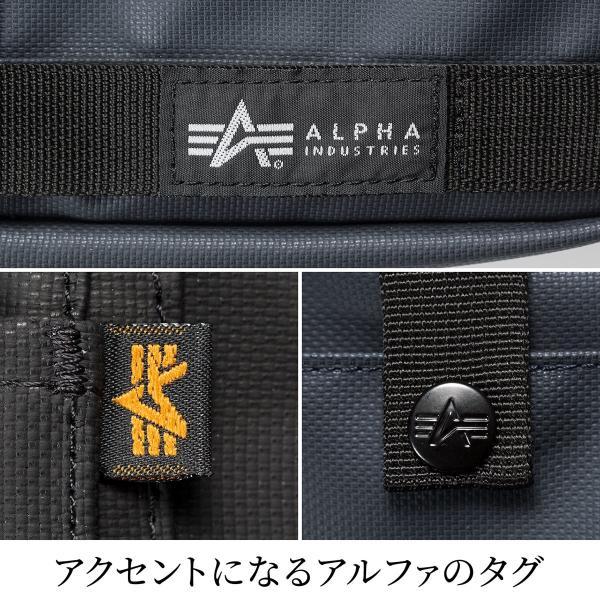 サコッシュ メンズ 2wayバッグ ショルダー バッグ 簡易防水 耐水 斜めがけ 肩掛け 軽量 薄型 ALPHA アルファ ショルダーバッグ(即納)|sanwadirect|06