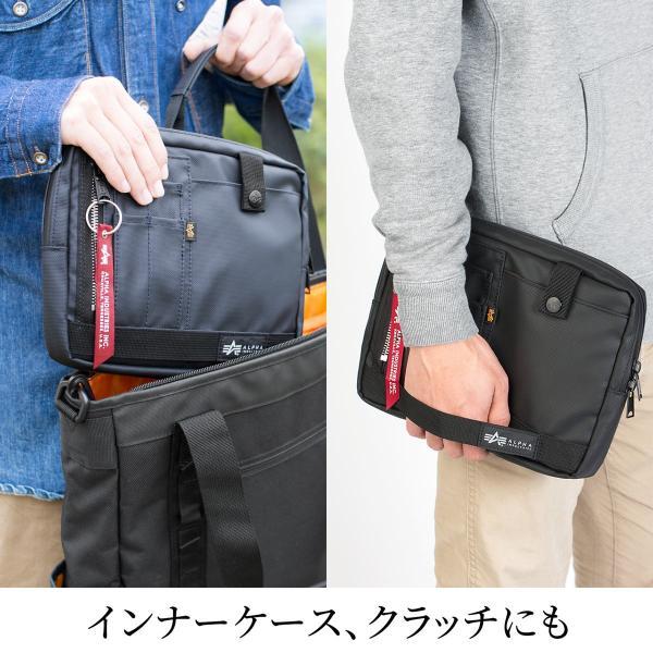 サコッシュ メンズ 2wayバッグ ショルダー バッグ 簡易防水 耐水 斜めがけ 肩掛け 軽量 薄型 ALPHA アルファ ショルダーバッグ(即納)|sanwadirect|07